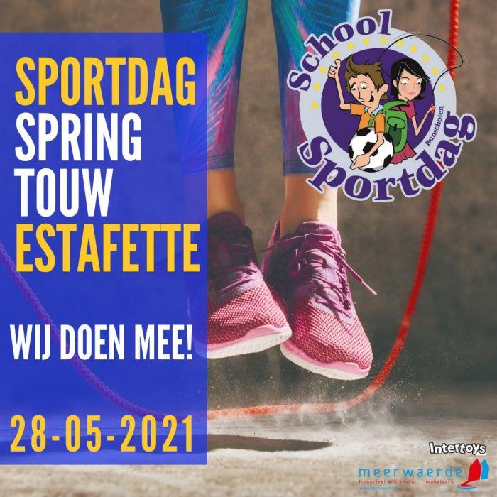 De Meerwaerde Sportdag Springtouw Estafette Sociale Media Insta